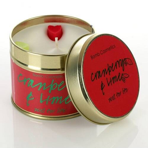 Cranberry and Lime Tinned Candle