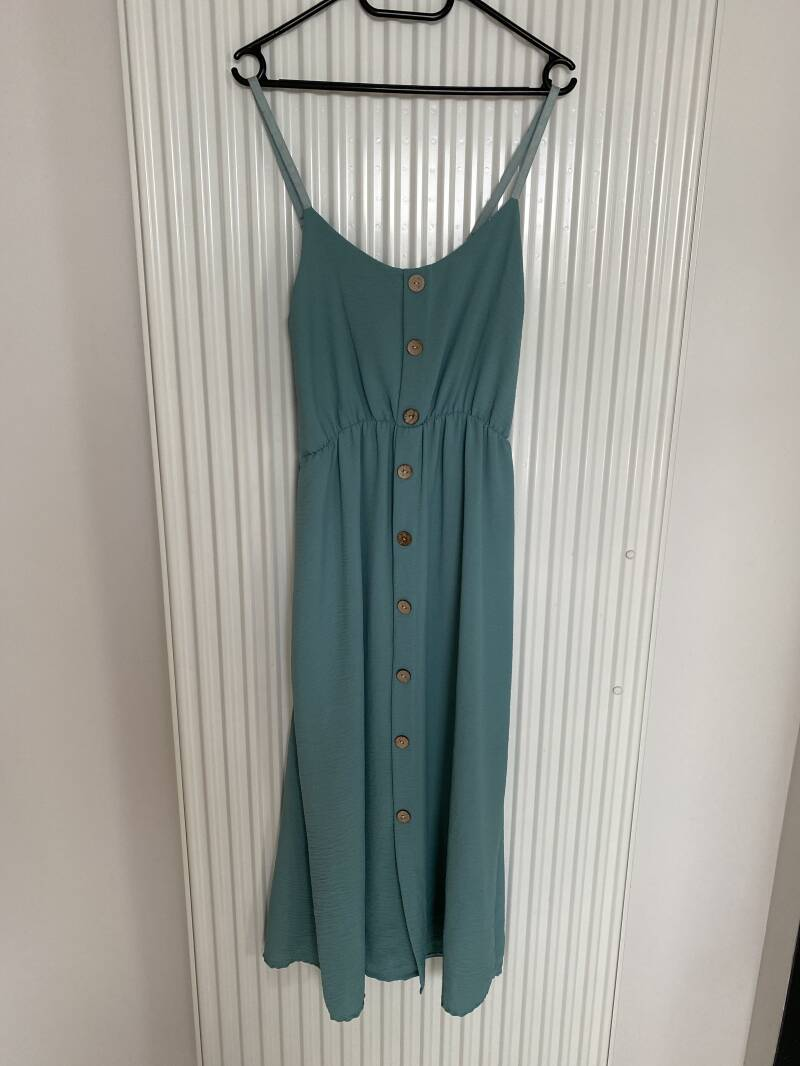 long dress with buttons