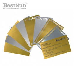 Metal business cards (set of 10) Sublimation Thermal Transfer