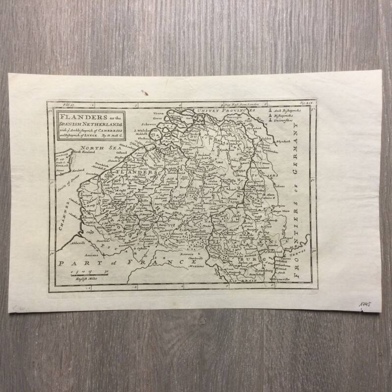 Flanders or the Spanish Netherlands - H. Moll - 1745