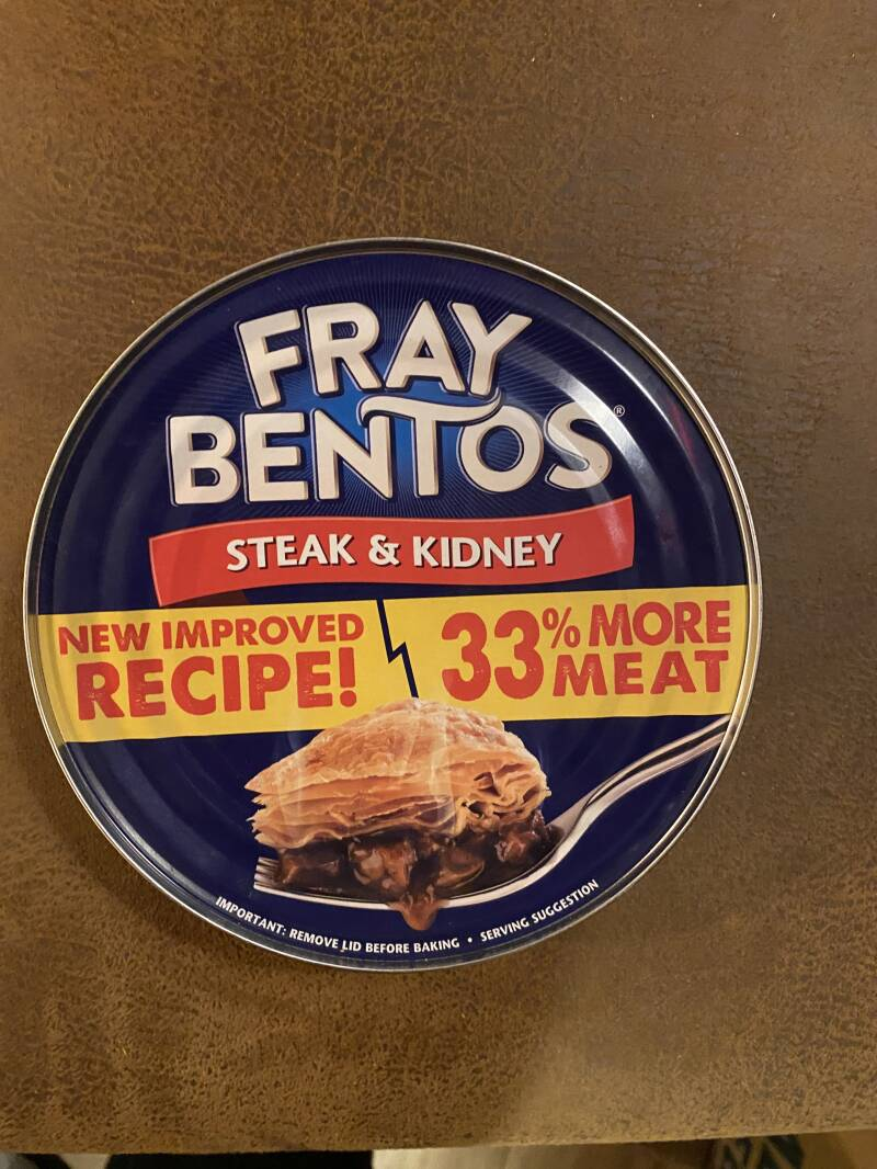 Fray Bentos steak & kidney