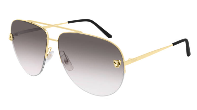 Cartier CT0065S-008 Gold Grey Sunglasses