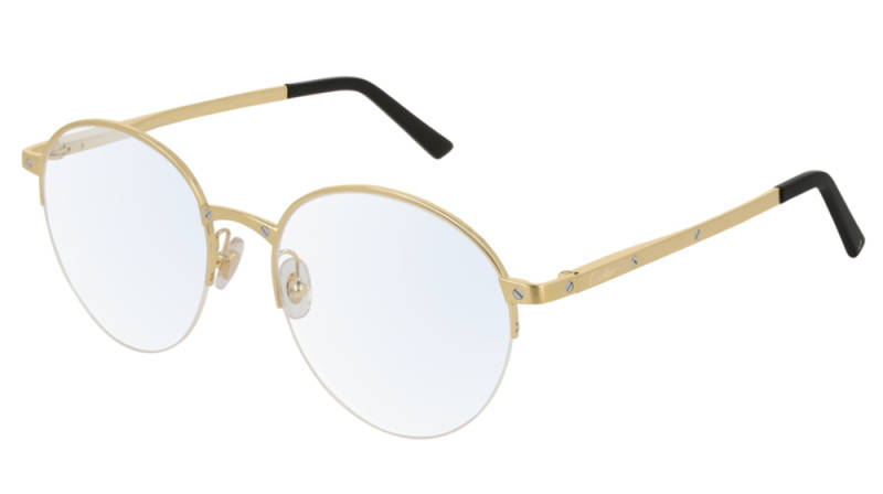 Cartier CT0108O-003 Gold Black Transparant Optical
