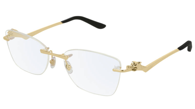 Cartier CT0120O-001 Gold Transparant Optical