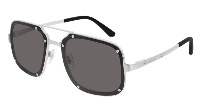 Cartier CT0194S-001 Silver Grey Sunglasses