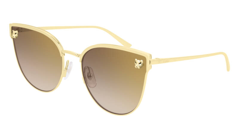 Cartier CT0198S-002 Gold Brown Sunglasses | SALE