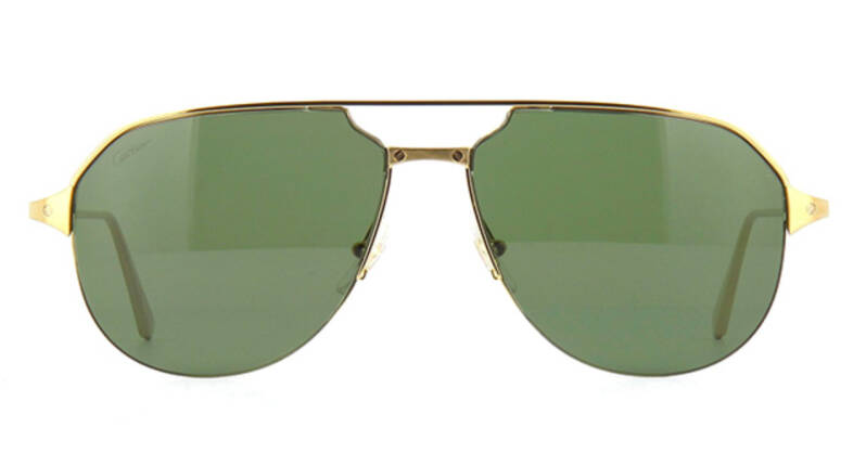 Cartier CT0229S 002 Sunglasses Gold Green