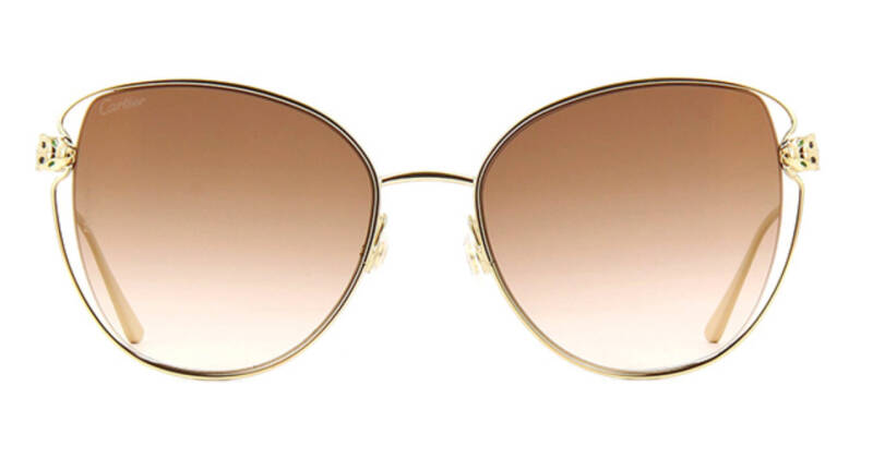 Cartier CT0236S 002 Sunglasses Gold Brown