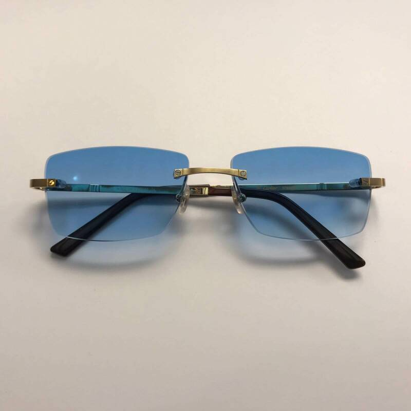 Cartier Santos Titanium Custom Blue Degradé Lens by LUKX