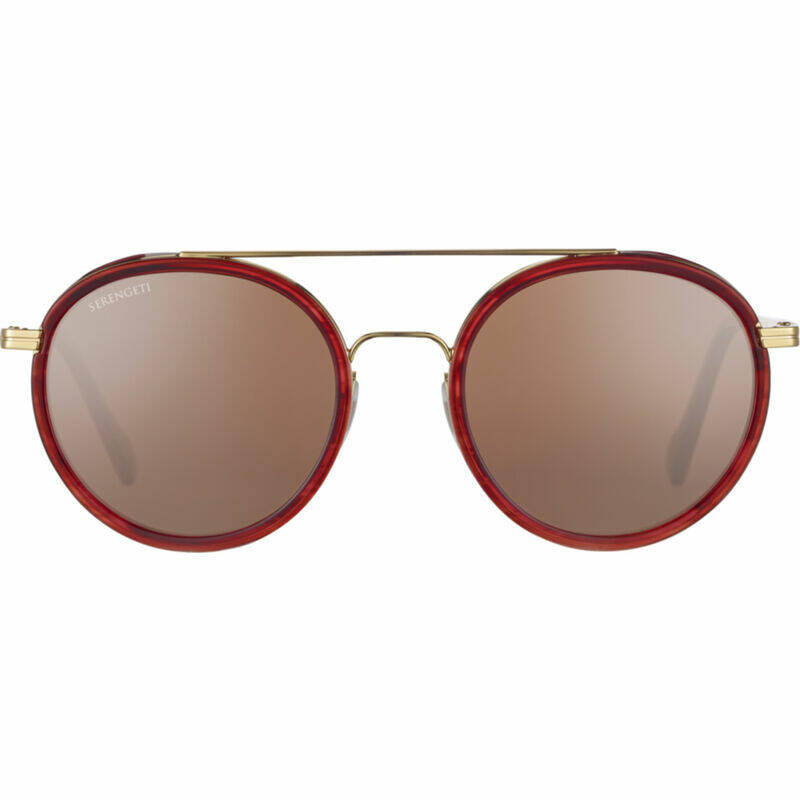 Serengeti Geary Bold Gold Red Turtoise Polarized Drivers Gold SS526004