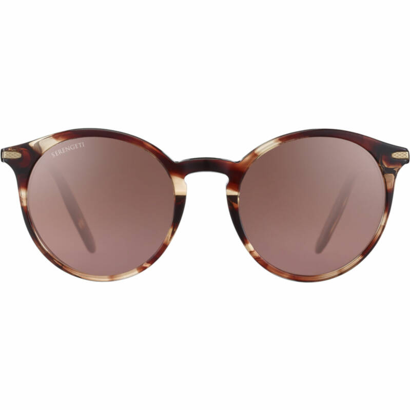 Serengeti Leonora Shiny Striped Brown Polarized Drivers Gradient 8841