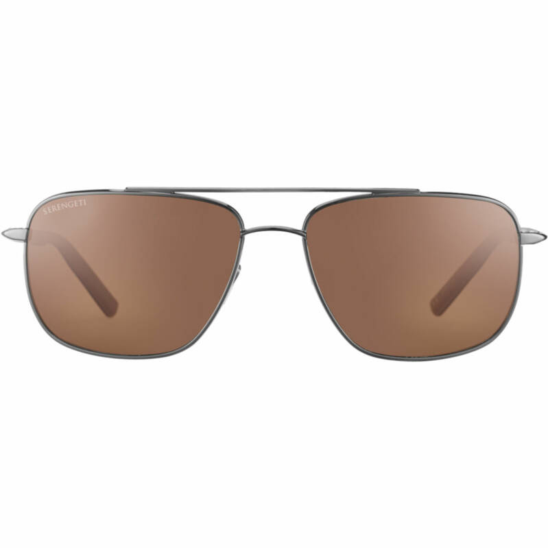 Serengeti Tellaro Shiny Gunmetal Polarized Drivers 8821