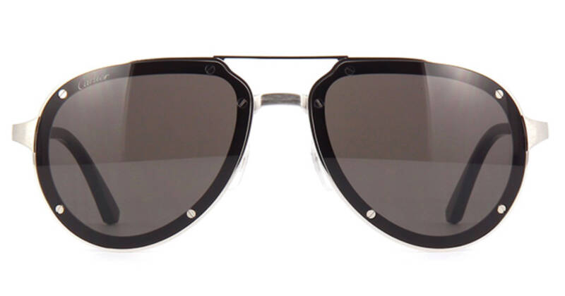 Cartier CT0195S 001 Silver Grey Sunglasses