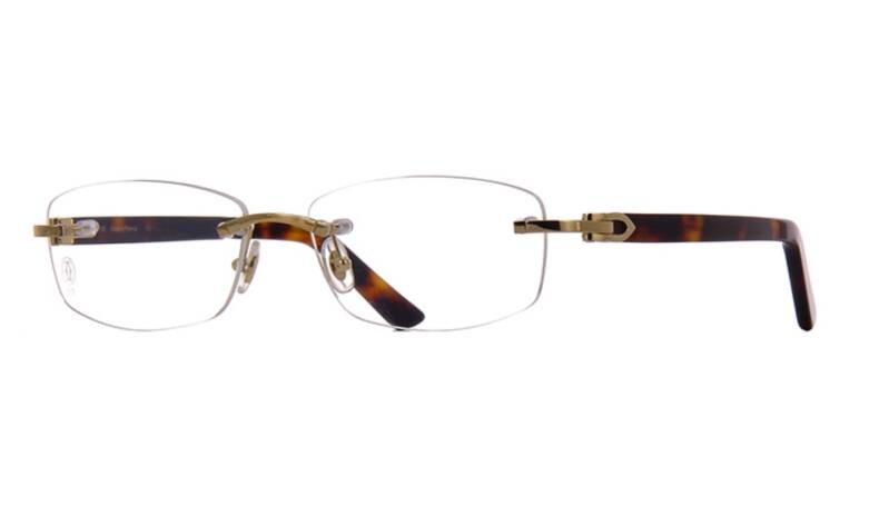 Cartier CT0048O-004 Gold Tortoise Opticial | SALE