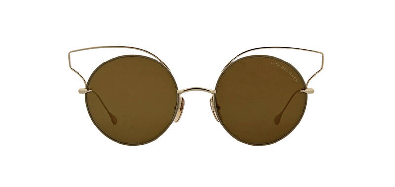 Dita Believer Sunglasses 23008 B Tan Gold/Gold Flash