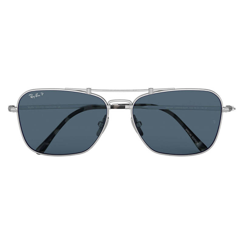RAY BAN CARAVAN TITANIUM LIMITED EDITION RB8136M 9165 58-15 Polarized