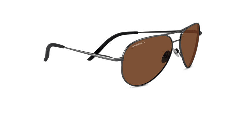 Serengeti Carrara Shiny Gun Metal Polarized 8297