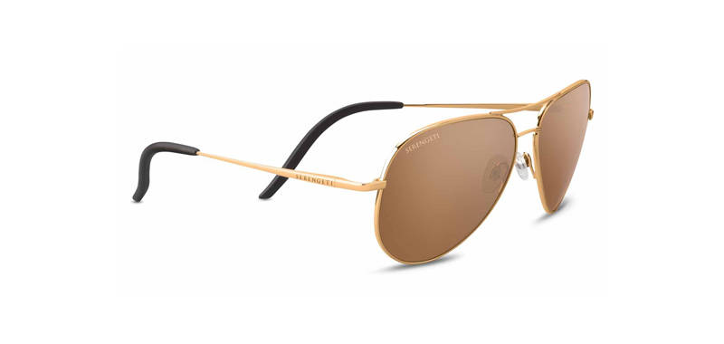 Serengeti Carrara Shiny Bold Gold Polarized 8546