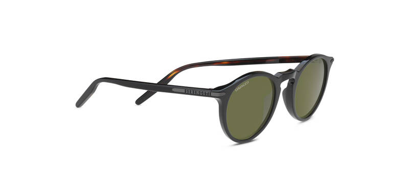 Serengeti Raffaele Shiny Black/ Dark Tortoise Polarized 8834
