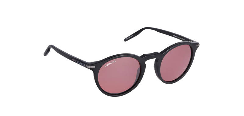 Serengeti Raffaele Matte Black Polarized 8838
