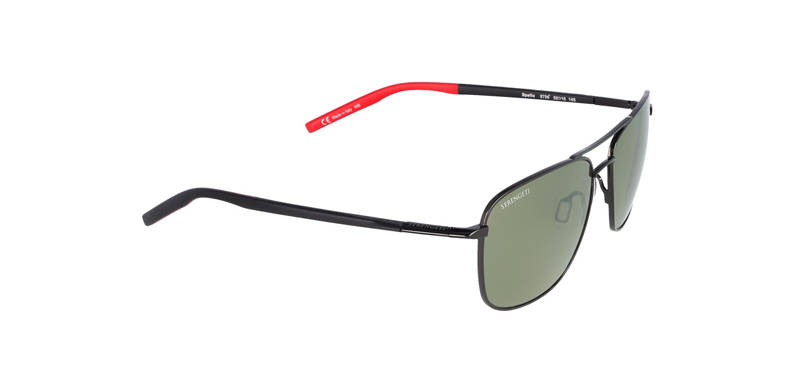 Serengeti Spello Shiny Black/Red Polarized 8796