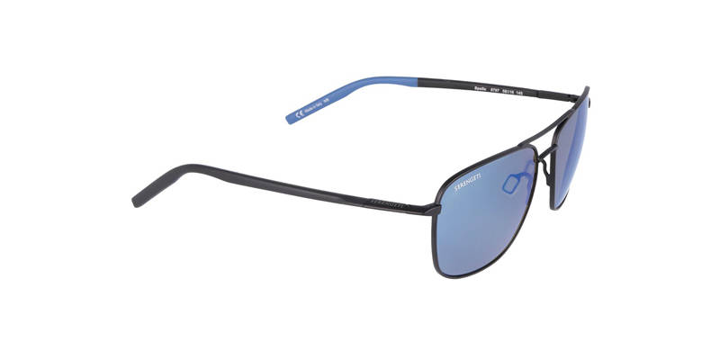 Serengeti Spello Matte Black/Blue Polarized 8797