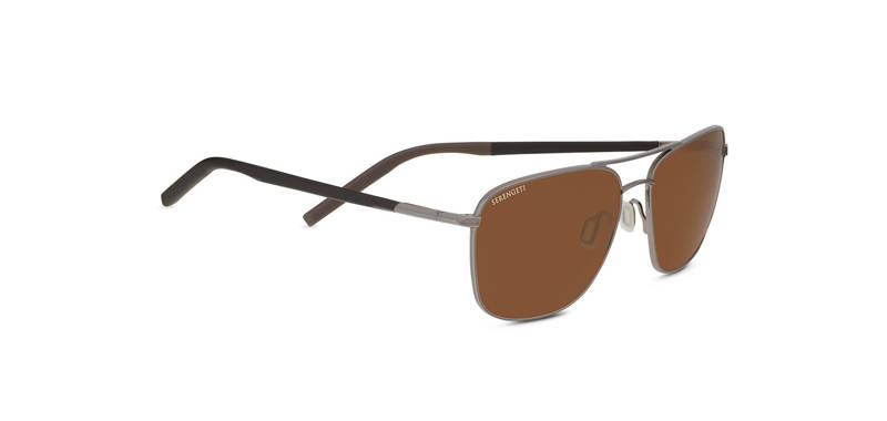 Serengeti Spello Shiny Gunmetal/Dark Brown Polarized 8799