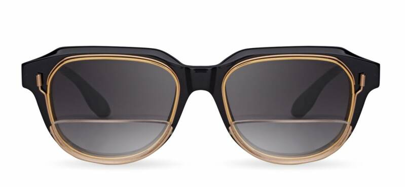 DITA VARKATOPE - LIMITED EDITION DTS707-A-01 BLACK YELLOW GOLD