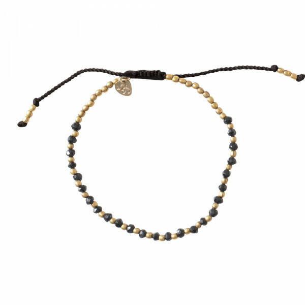 A Beautiful Story - Beautiful Zwarte Onyx Goud Armband