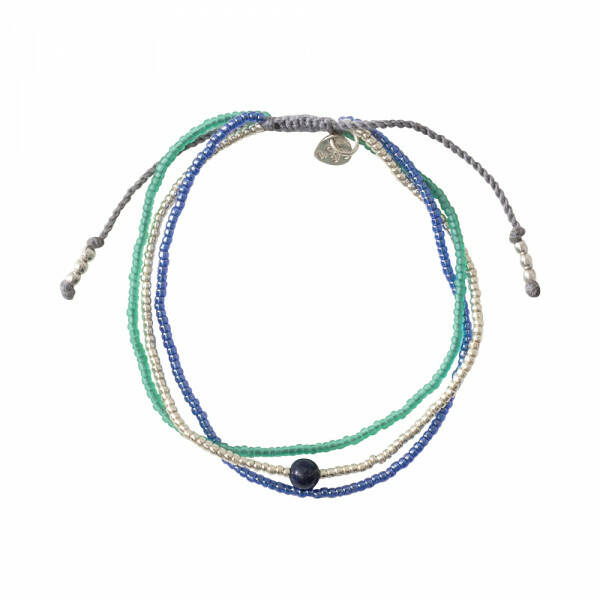 A Beautiful Story - Bloom Lapis Lazuli Zilver Armband