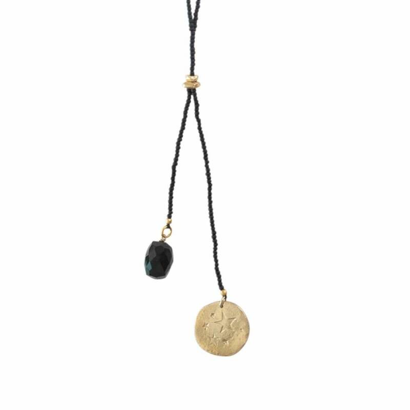 A Beautiful Story - Fairy Zwarte Onyx Ster Goud Ketting