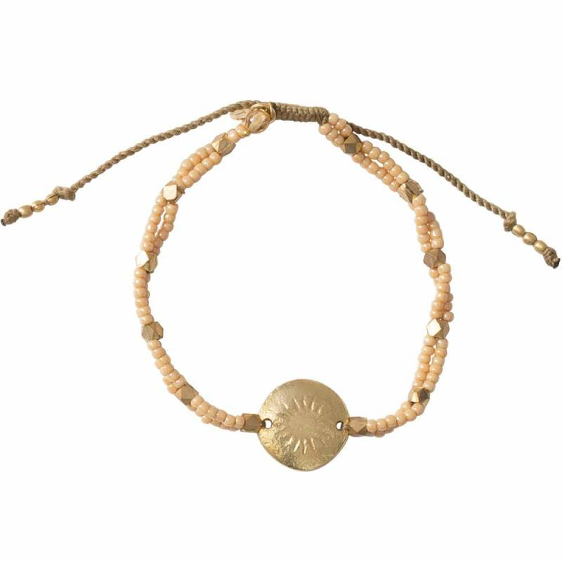 A Beautiful Story - Gratitude Citrien Goud Armband