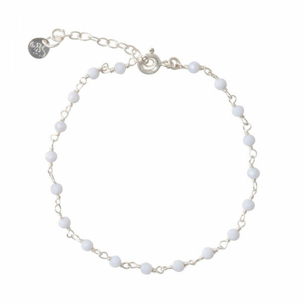 A Beautiful Story - Harmony Blauwe Agaat Zilver Armband