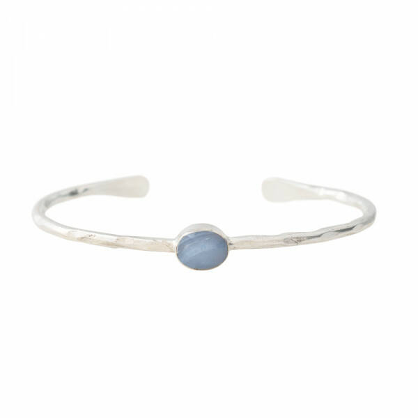 A Beautiful Story - Moonlight Blauwe Agaat Zilver Armband