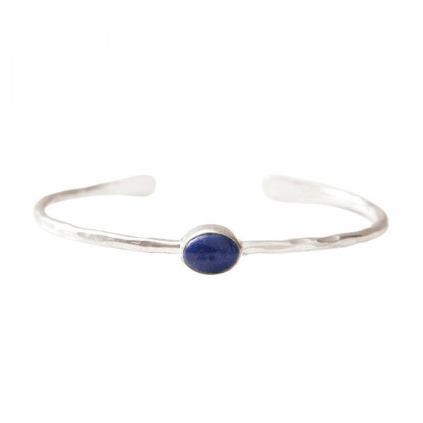 A Beautiful Story - Moonlight Lapis Lazuli Zilver Armband