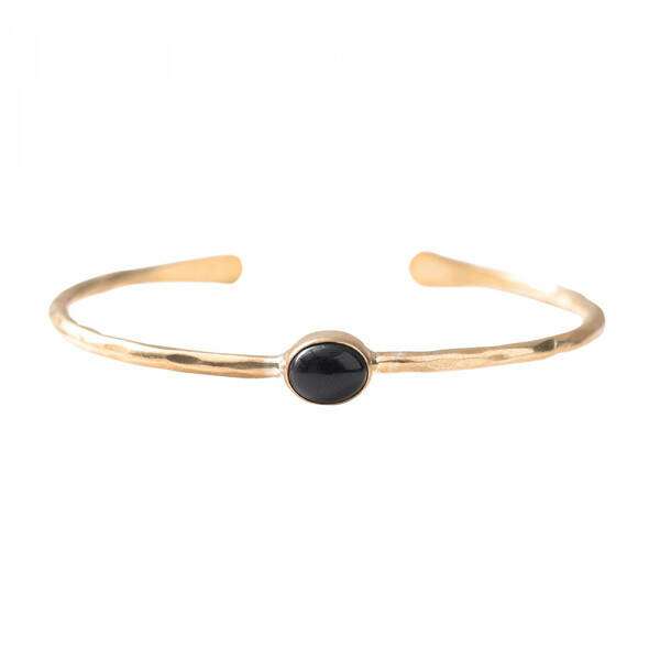 A Beautiful Story - Moonlight Zwarte Onyx Goud Armband