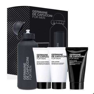 Promotie: For Men - Force Revive dagcrème + gratis: reiniging, scrub & drinkbus