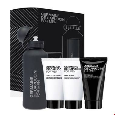 Promotie: For Men - Powerage dagcrème + gratis: reiniging, scrub & drinkbus