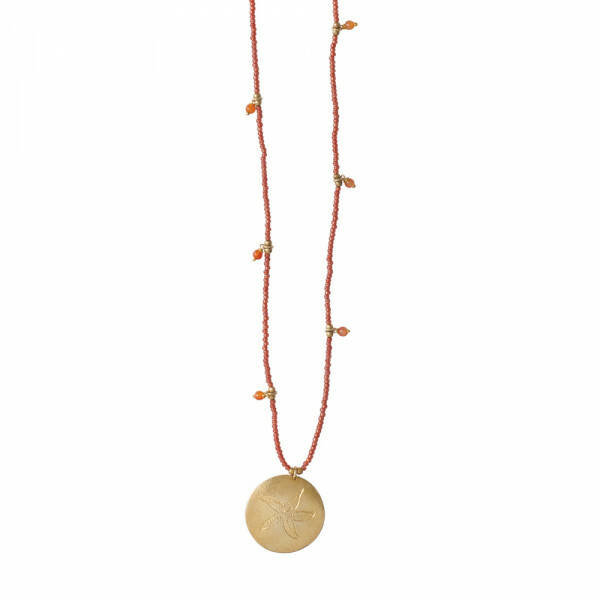 A Beautiful Story: Radiant Carneool Goud Ketting
