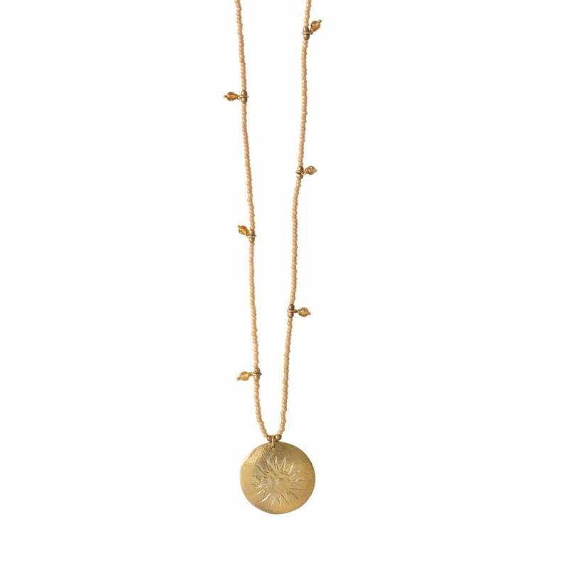 A Beautiful Story - Radiant Citrien Goud Ketting