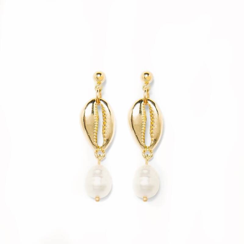 Earstud Shell and Pearl