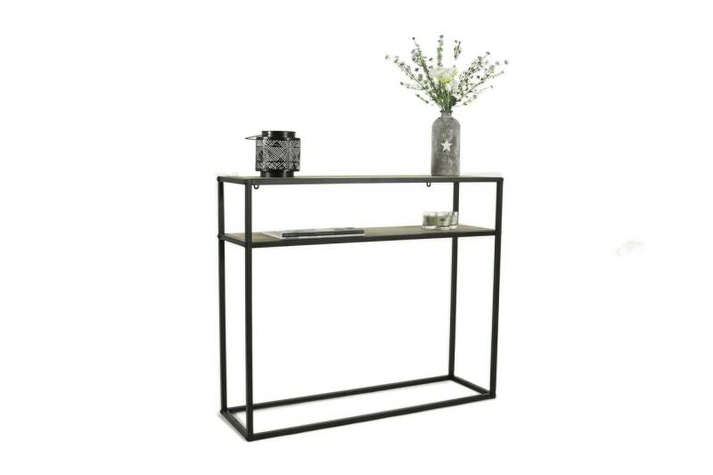 Lifa Living side table Toulouse metaal zwart met hout
