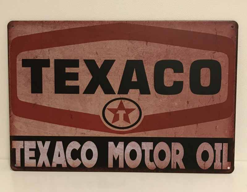 Vintage sign Texaco Motor oil