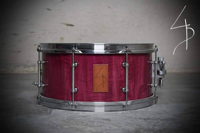 Curly Purple Hart Stave drum