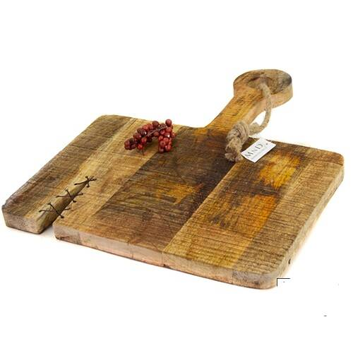 Mango chopping board flat wire 33x40x3 cm