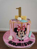 minnie mouse taart 10 personen