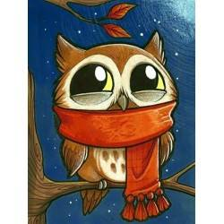 Owlet with Scarf