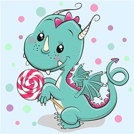 Dragon with Candy