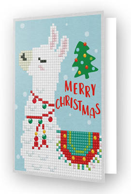 Diamond Dotz Greeting Card Merry Christmas Llama