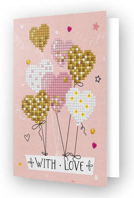 Diamond Dotz Greeting Card Love Balloons
